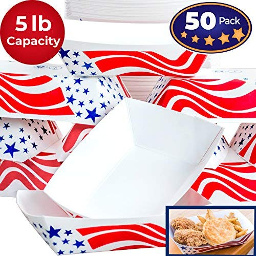 US Flag Paper Food Tray