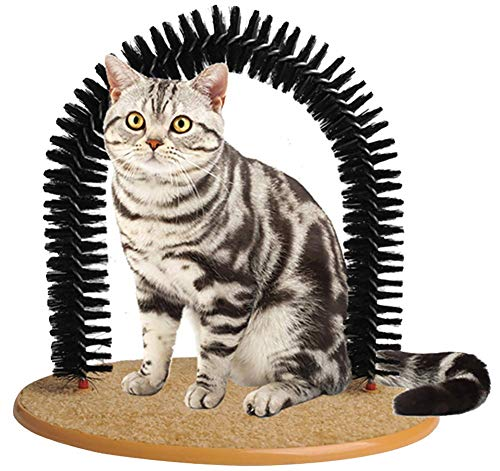 Soft Pet Cat Self Grooming Comb Brush Kitties Cat Arch Self Massage Brush Hair Trimming Brush Cat...