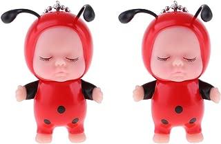 Prettyia Cute Sleeping Doll Keychain Pendant - Handbag Purse Cellphone Pendant Charms, Keyring Accessories for Women & Girls