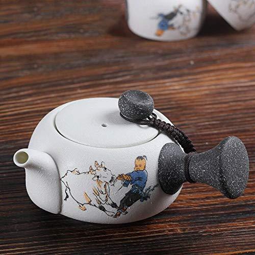 YOIL Teetasse mit Seitengriff Teekanne Keramik Teekanne Hersteller Filter Teekanne Home Büro 160 ml Herren