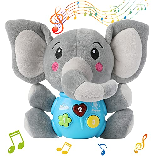 FWZXBK Toys for 1-9 year old Boys Girls, Cute Stuffed Aminal Light Up Baby...