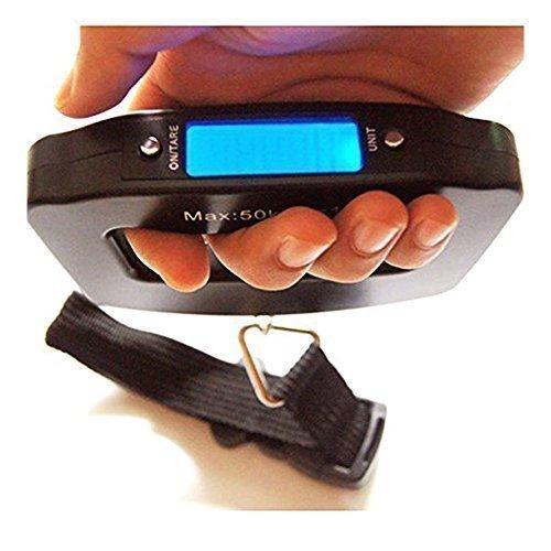 CSTOM Appeso Bilancia Handheld Elettronica Pesa Bagaglio Valigie 110lb/0.1oz 50kg/10g 100547