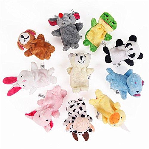 Joyfeel buy 10 Stück/Satz Karikatur Fingerpuppen süß Handpuppen Interaktives Spielzeug für Eltern und Kinder Vorschulspielzeug (Zufallsmuster)