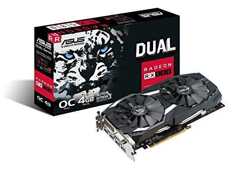 ASUS Radeon RX 580 O4G Dual-Fan OC Edition GDDR5 DP HDMI DVI VR Ready AMD Grafikkarte (DUAL-RX580-O4G)