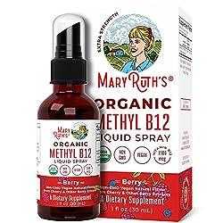 cheap (Extra Strength-60 days) Liquid sublingual spray containing organic vitamin B12 (methyl) from Mary Ruth's energy …