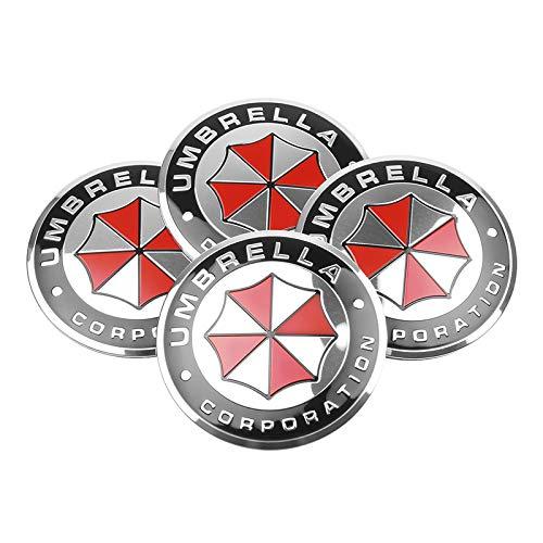 KGASYUI Tapas para tapacubos 4 unids 56 / 60mm Rueda de automóvil Central Caps Caps Badge Emblem Sticker Calcomanía Compatible con BMW Audi Kia Ford Toyota Suzuki Lada Tapas centrales para Llantas
