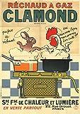 Carnet ligné Affiche Réchaud à gaz Clamond (BNF Affiches)