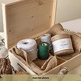 XL Große Holzkiste Kiste Spielzeugkiste Erinnerungsbox Aufbewahrungsbox Holzbox mit Deckel – 40 x 30 x 14 cm – Unlackiert Kasten – mit Griffen – Ideal für Wertsachen, Spielzeuge und Werkzeuge - 8