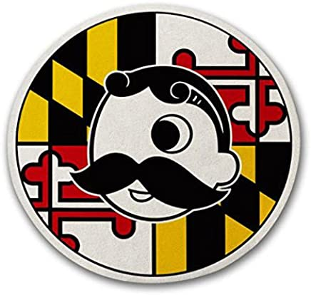 7f8c715b Route One Apparel | Maryland Flag with Official Natty Boh Logo Cork Coaster