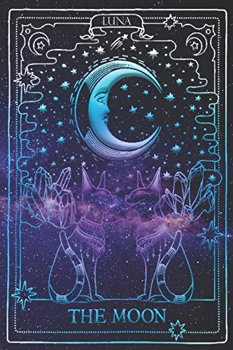 Moon Tarot Journal: Notebook, Sketchbook, Writing Book: 200 Big Blank Pages Dotted Grid system for Drawing, Writing, Sketch Art (Tarot Journals, Band 3)