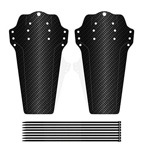 SHICHEN 2 Pezzi Parafango MTB, Parafanghi Bici Compatibile Anteriore o Posteriore Enduro Parafanghi Bici MTB Misura 20' 26' 27,5' 28' 29 Pollici Fat Bike Mud Guard (Carbon Fiber)