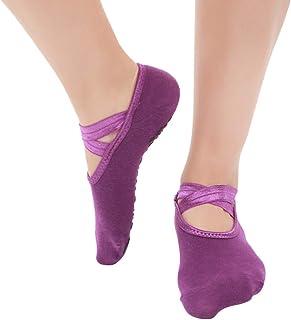 Bascar - 5 calze da dita, da donna, antiscivolo sulle dita, per yoga, sport, balletto, danza, antiscivolo