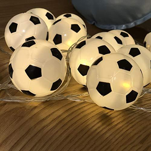 Ironhorse 20 LED Football String Lights Soccer Ball Night Light Garlands Decor Kids Bedroom Party Xmas Holiday Light