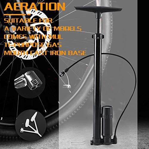 Lomelomme Bike Pump Bike Foot Pump with Gauge, Hand Bicycle Floor Air Foot Pump, Bike Tire Air Pump Bicycle Floor Pump with Pressure Gauge Bike Floor Pump