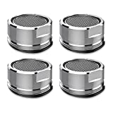 4 PCS Faucet Aerators For Kitchen And Bathroom Sink - Faucet Aerator Kit Of Universal Size And Minimalistic Design – Brass Faucet Head Aerators