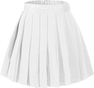 Beautifulfashionlife Women's High Waisted Pleated Mini Skirt A-line Shorts with Elastic Wide Waistband