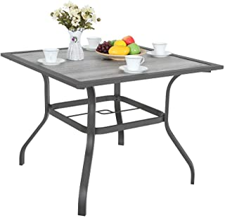 square bistro table outdoor