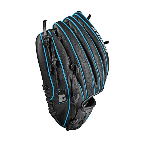 Wilson 2018 A1000 1788 Gloves - Right Hand Throw Black/Gray/Tropical Blue, 11.25""