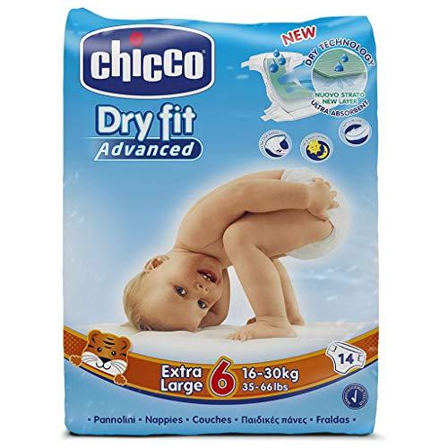 Chicco Dry Fit - 6 pannolini da 16-30 kg, taglia 6, confezione da 6