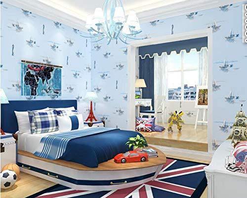 Pmhhc Personalisierte Segeln Segelboot Mittelmeer Tapete Kinder Jungen Vlies 3D Wallpaper Schlafzimmer Wohnzimmer Tapety