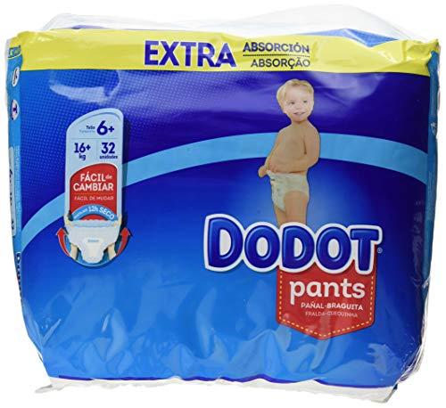 Dodot Pants Extra Pannolini, Taglia 6 (+16 kg) - 1 x 32 Pannolini