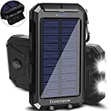 Best Solar Chargers - Solar Charger, Durecopow 20000mAh Portable Outdoor Waterproof Solar Review