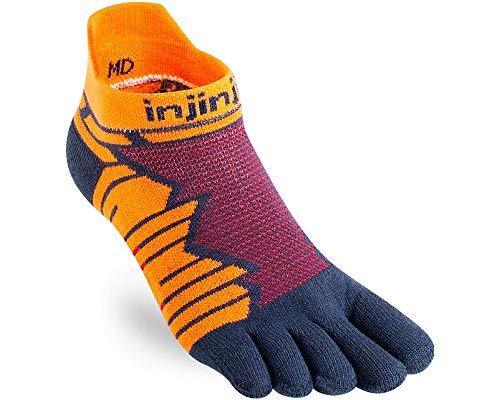 Injinji Ultra Run No Show Crimson Toe Socks Size : 37-40