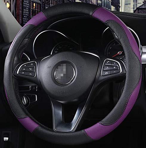 Istn Unisex Sport Stil Kontrast Farbe rutschfeste Schweiß gute atmungsaktive PU Kunstleder 15 Zoll Auto Lenkrad Abdeckung