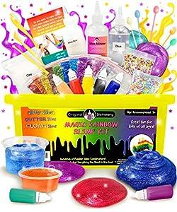 Original Stationery Kit de Slime - Implementos para hacer Slime de Cristal, Alien, Flexible, Brillante, Slime de Unicornio y más - Regalos para niñas y niños