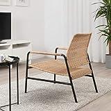 MSAMALL Sillón ULRIKSBERG, ratán, antracita, 76x67x74 cm, duradero y fácil de cuidar. Sillones de ratán. Sillones y chaise longues. Sofás y sillones. Muebles. Respetuoso con el medio ambiente.