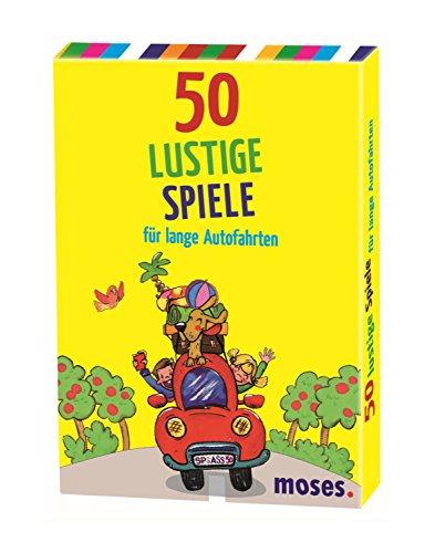moses. 50 lustige Spiele für lange Autofahrten | Kinderbeschäftigung | Kartenset