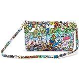 JuJuBe | Be Quick Shoulder Bag/Wristlet Purse Organizer for Travel or Diaper Bag | Tokidoki | Team Toki