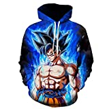 SZXZS Plain Pullover Dragon Ball Z Hoodies 3D Printing Anime Goku Sweater Man Woman Casual T-Shirt Teen Outdoor Sports-1112_L