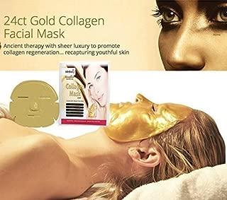 Anti Falten COLLAGEN Gesichtsmaske mit kolloidalem Gold - by BLISSANY zur Regeneration der Gesichtshaut, Anti Aging Maske, feuchtigkeitsspendend Kollagen Maske 5