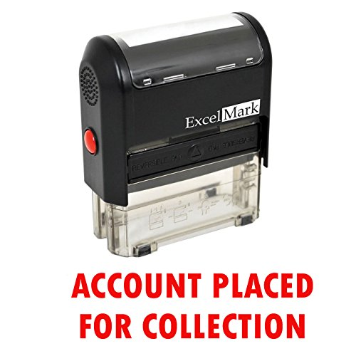 Account Placed for Collection - Self Inking Bill Collection Stamp in Red Ink