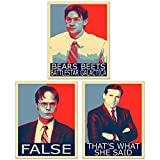 The Office Hope Posters - Set of 3 (8 inches x 10 inches) Michael Scott Dwight Schrute Jim Halpert