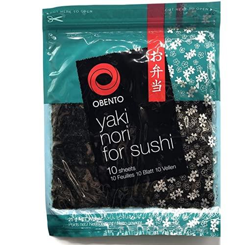 Obento Alghe Nori per Sushi - 1 confezione da 10 fogli [25 gr]