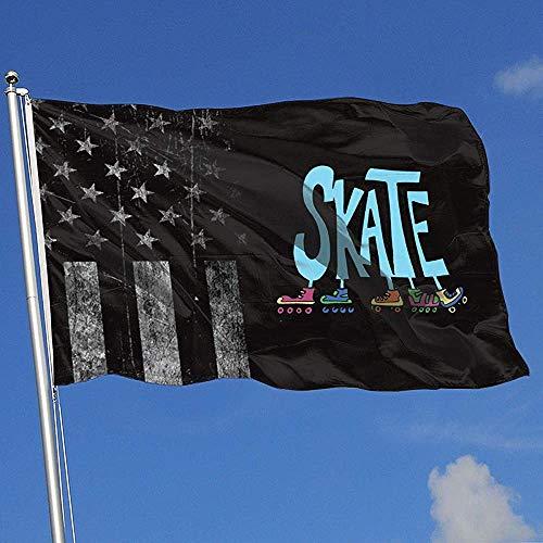 Elaine-Shop Outdoor Flags Abgenutzte USA Flagge Rollschuhe 4 * 6 Ft Flagge für Wohnkultur Sport Fan Fußball Basketball Baseball Hockey