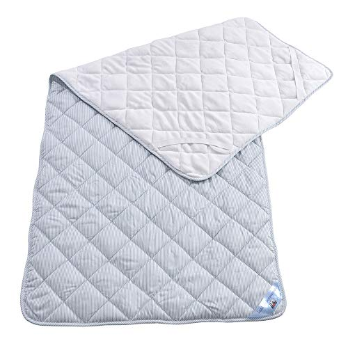 RIBECO Matratzenauflage mit Top Cool Funktion, kuschelige Winter- und kühlende Sommerseite, mit 4 elastischen Spanngummis