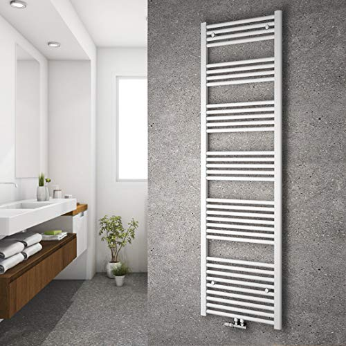 Safeni Handtuchheizkörper, Heizwand Handtuchwärmer Design 1800x500mm Einstellbarer Wandabstand Handtuchheizkörper