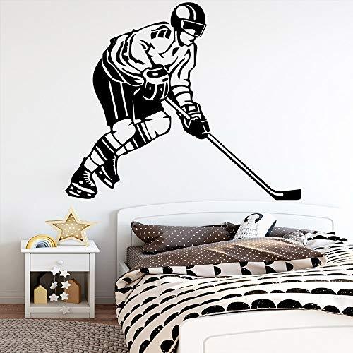Exquisite Hockey Wandaufkleber dekorative Aufkleber dekorative Accessoires für Kinderzimmer wasserdichtes Wandbild A7 43x51cm