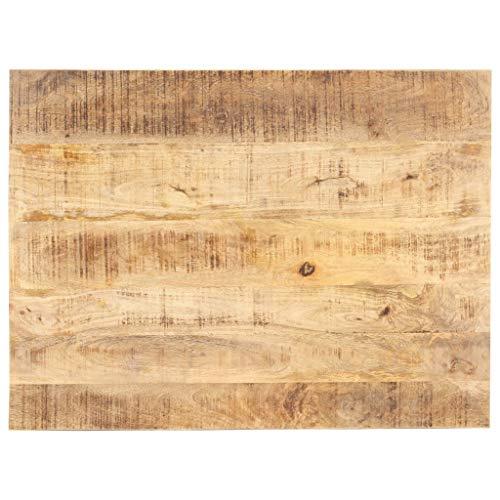 vidaXL Mangoholz Massiv Tischplatte Massivholzplatte Holzplatte Ersatztischplatte Holz Platte für Esstisch Esszimmertisch 15-16mm 90x60cm