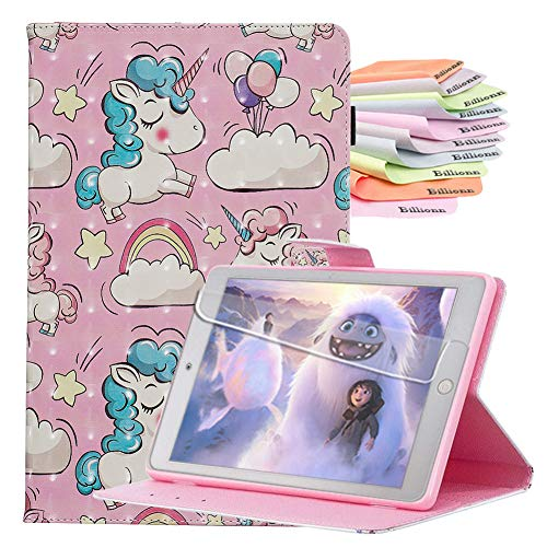 Billionn Case for iPad 10.2 Inch 8th Gen (2020)/7th Gen (2019), Auto Sleep/Wake Smart Cover with Screen protector, Pink Unicorn