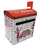The Tin Box Company The Elf on the Shelf Tall Magic Mailbox with Plastic Flag, Red and White