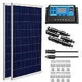 SUNGOLDPOWER Panel solar policristalino, 200 W, 12 V: 2 paneles...