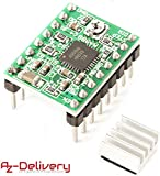 AZDelivery A4988 dmos Stepper moteur Driver RepRap Arduino complet avec baguettes Stylet et dissipateur thermique y compris un eBook