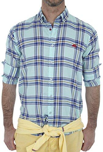Altonadock PV18275020608 Camisa Casual, Multicolor (Cuadros), X-Large (Tamaño del Fabricante:XL) para Hombre