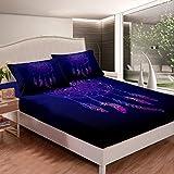 Dreamcatcher - Juego de sábanas de estilo bohemio para decoración de dormitorio con 2 fundas de almohada