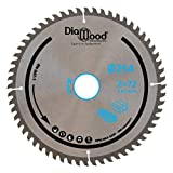DIAMWOOD EXPERT EN EQUIPEMENT - Lame de scie circulaire HM finition D. 254 x Al. 30 x ép. 2,8/1,8 mm x Z72 TP Nég pour Alu/bois