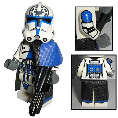Custom Brick Design 501st Legion Clone Trooper Jesse Figur - modifizierte Minifigur des bekannten Klemmbausteinherstellers und somit voll kompatibel zu Lego
